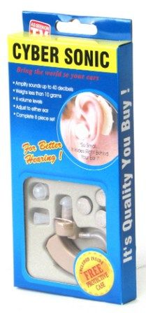 Упаковка слухового аппарата Кибер Соник